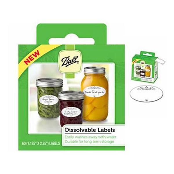 Ball Dissolvable Canning Jar Labels - 60 labels